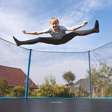 Ultrasport Uni-Jump Gartentrampolin, Intertek GS geprüft, Kinder Trampolin, Trampolin-Komplettset inkl. Sprungmatte, Sicherheitsnetz, gepolsterten Netzpfosten & Randabdeckung 183cm - 2