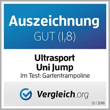 Ultrasport Uni-Jump Gartentrampolin, Intertek GS geprüft, Kinder Trampolin, Trampolin-Komplettset inkl. Sprungmatte, Sicherheitsnetz, gepolsterten Netzpfosten & Randabdeckung 183cm - 8