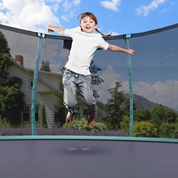 Ultrasport Unisex– Erwachsene 430 Gartentrampolin mit 430 cm Durchmesser, belastbar bis 150 kg, großes Outdoor Trampolin mit viel Platz und vielen Sicherheitsmerkmalen, Grün, 430cm (XL) - 4