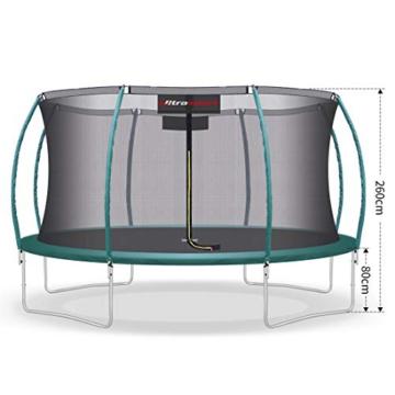 Ultrasport Unisex– Erwachsene 430 Gartentrampolin mit 430 cm Durchmesser, belastbar bis 150 kg, großes Outdoor Trampolin mit viel Platz und vielen Sicherheitsmerkmalen, Grün, 430cm (XL) - 5