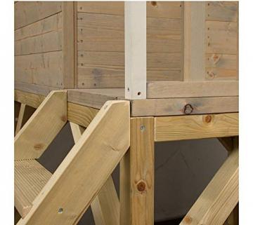 Wendi Toys Kinderspielhaus Alpaka Spielturm Stelzenhaus Baumhaus Holzhaus mit Sandkasten Veranda Schaukel und Rutsche - 3