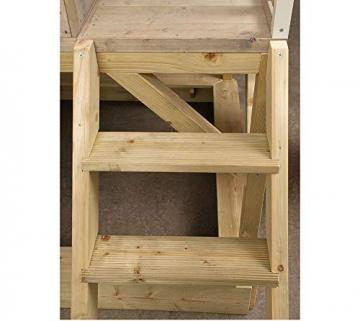 Wendi Toys Kinderspielhaus Alpaka Spielturm Stelzenhaus Baumhaus Holzhaus mit Sandkasten Veranda Schaukel und Rutsche - 4