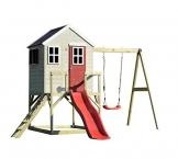 Wendi Toys Kinderspielhaus Elefant Spielturm inkl. Veranda & Rutsche - 1