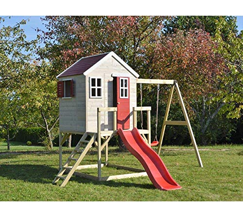 Wendi Toys Kinderspielhaus Elefant Spielturm inkl. Veranda & Rutsche - 2