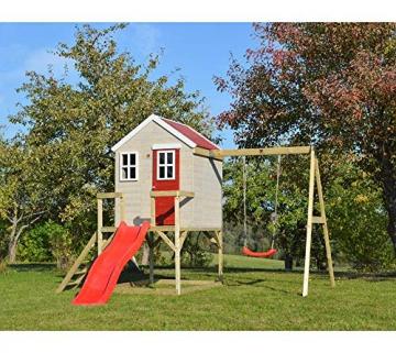 Wendi Toys Kinderspielhaus Elefant Spielturm inkl. Veranda & Rutsche - 3