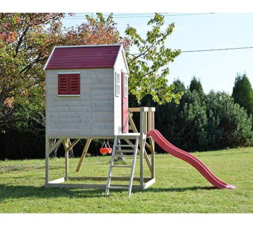 Wendi Toys Kinderspielhaus Elefant Spielturm inkl. Veranda & Rutsche - 4
