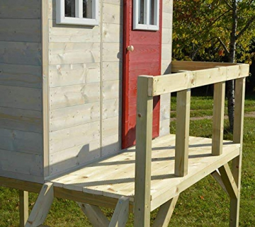 Wendi Toys Kinderspielhaus Elefant Spielturm inkl. Veranda & Rutsche - 5