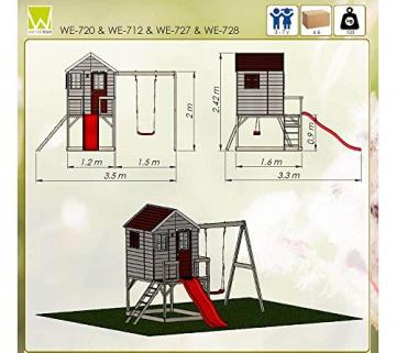 Wendi Toys Kinderspielhaus Elefant Spielturm inkl. Veranda & Rutsche - 8