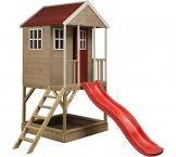 Wendi Toys Kinderspielhaus Frosch Spielturm inkl. Veranda & Rutsche - 1