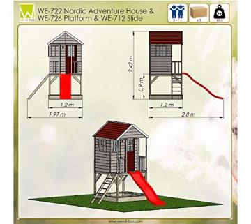 Wendi Toys Kinderspielhaus Frosch Spielturm inkl. Veranda & Rutsche - 8