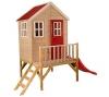 Wendi Toys Kinderspielhaus Kinderhaus Kinder-Gartenhaus Biber Spielturm inkl. Veranda & Rutsche - 1