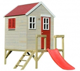 Wendi Toys Kinderspielhaus Löwe Spielturm inkl. Veranda & Rutsche - 1