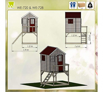 Wendi Toys Kinderspielhaus Storch inkl. Fensterladen - 8