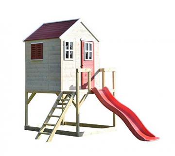 Wendi Toys Kinderspielhaus Tiger Spielturm inkl. Veranda & Rutsche - 1