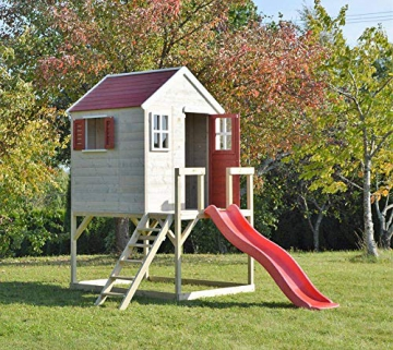 Wendi Toys Kinderspielhaus Tiger Spielturm inkl. Veranda & Rutsche - 3