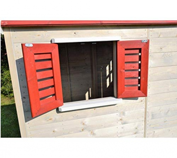 Wendi Toys Kinderspielhaus Tiger Spielturm inkl. Veranda & Rutsche - 5