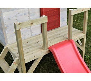 Wendi Toys Kinderspielhaus Tiger Spielturm inkl. Veranda & Rutsche - 6