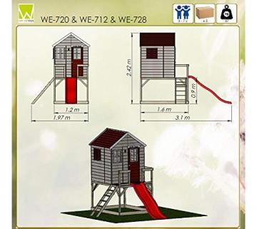 Wendi Toys Kinderspielhaus Tiger Spielturm inkl. Veranda & Rutsche - 8