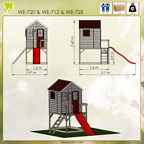 Wendi Toys Kinderspielhaus Tiger Spielturm inkl. Veranda & Rutsche - 9