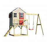 Wendi Toys Kinderspielhaus Zebra Spielturm inkl. Veranda und Schaukelgerüst - 1