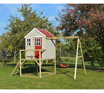 Wendi Toys Kinderspielhaus Zebra Spielturm inkl. Veranda und Schaukelgerüst - 3