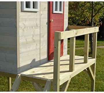 Wendi Toys Kinderspielhaus Zebra Spielturm inkl. Veranda und Schaukelgerüst - 6