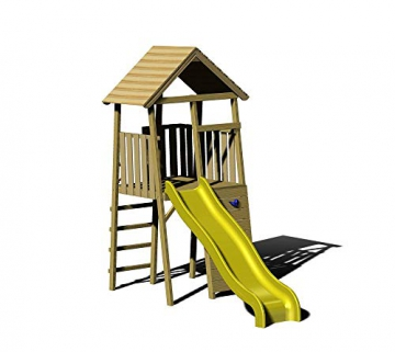 Wendi Toys Kinderspielturm Falke inkl. Rutsche - 1