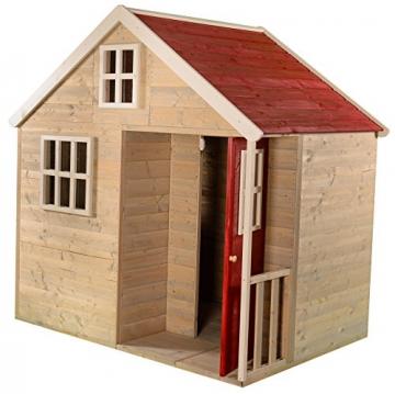 Wendi Toys M13 Nordic Villa House WE-731 | Geschlossenes Spielhaus mit voller Tür, Fenster, Plexiglasfenster, Spielzeugablage, Giebelfenster - 2