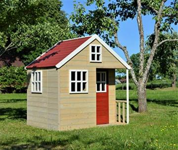 Wendi Toys M13 Nordic Villa House WE-731 | Geschlossenes Spielhaus mit voller Tür, Fenster, Plexiglasfenster, Spielzeugablage, Giebelfenster - 3