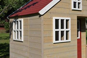 Wendi Toys M13 Nordic Villa House WE-731 | Geschlossenes Spielhaus mit voller Tür, Fenster, Plexiglasfenster, Spielzeugablage, Giebelfenster - 4