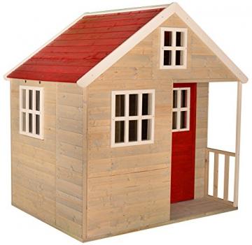 Wendi Toys M13 Nordic Villa House WE-731 | Geschlossenes Spielhaus mit voller Tür, Fenster, Plexiglasfenster, Spielzeugablage, Giebelfenster - 1