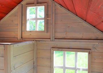 Wendi Toys M13 Nordic Villa House WE-731 | Geschlossenes Spielhaus mit voller Tür, Fenster, Plexiglasfenster, Spielzeugablage, Giebelfenster - 5