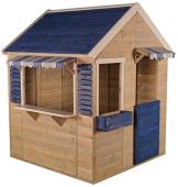 Wendi Toys M17 Maritime House | Kinder HolzSpielhaus | Blau Holz Garten Haus | Holzhäuser für draußen - 1
