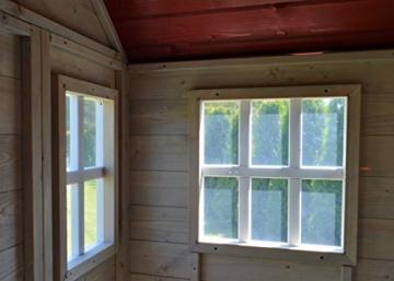 Wendi Toys M4 Nordic Garden House WE-703 + WE-705 + WE-711  Kinderspielhaus auf Plattform mit Rutsche 118 cm  Kinder Holz Spielhaus Gartenhaus mit Fenstern, Leiter, Rutsche, Volltür - 7