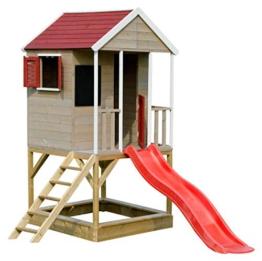 Wendi Toys M7 Spielturm mit Rutsche | Multifunktionales Holzhaus Kinder | Einfach zu montieren und zu reinigen | Gartenhaus Holz für Jungen und Mädchen 3-7 Jahre - 1