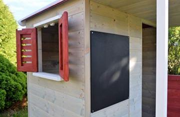 Wendi Toys M9 Summer Adventure House & Plattform & Rutsche   Kinderspielhaus aus Holz auf 90 cm Plattform mit Schaukeln Holzhaus Garten Spielhaus mit Veranda Rutsche, Schaukel, Tafel, Sandkasten - 4
