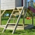Wendi Toys M9 Summer Adventure House & Plattform & Rutsche   Kinderspielhaus aus Holz auf 90 cm Plattform mit Schaukeln Holzhaus Garten Spielhaus mit Veranda Rutsche, Schaukel, Tafel, Sandkasten - 6