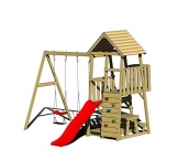 Wendi Toys Spielturm Flamingo Stelzenhaus Kletterturm inkl. Rutsche, Schaukel & Kletterwand - 1