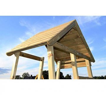 Wendi Toys Spielturm Flamingo Stelzenhaus Kletterturm inkl. Rutsche, Schaukel & Kletterwand - 4
