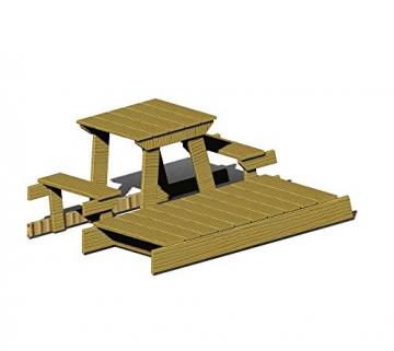 Wendi Toys Spielturm Flamingo Stelzenhaus Kletterturm inkl. Rutsche, Schaukel & Kletterwand - 6