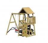 Wendi Toys Spielturm Gorilla Stelzenhaus Kletterturm inkl. Rutsche, Schaukel & Kletterwand - 1
