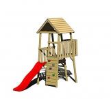 Wendi Toys Spielturm Hase Stelzenhaus Kletterturm inkl. Rutsche & Kletterwand - 1