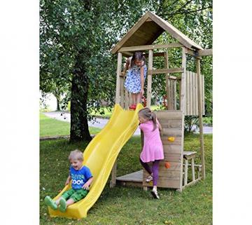 Wendi Toys Spielturm Pelikan Stelzenhaus Kletterturm inkl. Rutsche, Schaukel & Kletterwand - 3