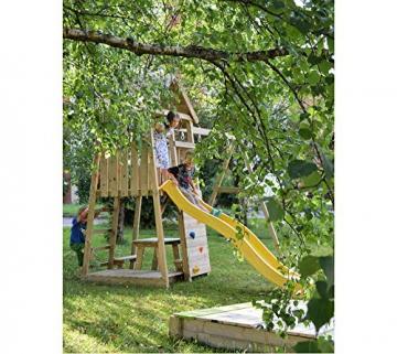 Wendi Toys Spielturm Pelikan Stelzenhaus Kletterturm inkl. Rutsche, Schaukel & Kletterwand - 5