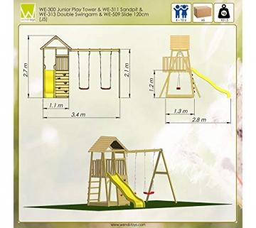 Wendi Toys Spielturm Pinguin inkl. Kletterwand, Doppelschaukel und Rutsche - 2
