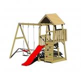 Wendi Toys Spielturm Salamander Stelzenhaus Kletterturm inkl. Rutsche & Kletterwand - 1