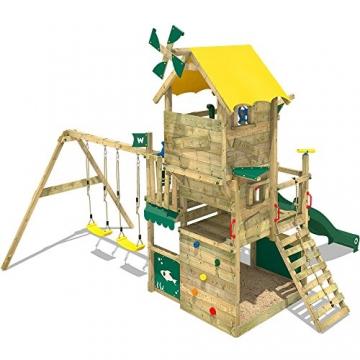 WICKEY Kletterturm Smart Engine Spielturm Klettergerüst auf mehreren Etagen mit Doppelschaukel und Rutsche - 2