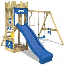 WICKEY Spielburg KnightFlyer Spielturm Kletterturm mit Schaukel, Rutsche, Sandkasten und Kletterleiter -