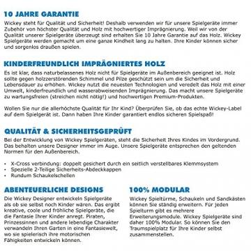 WICKEY Spielplatz Smart Legend 150 Kletterturm Ritterburg Spielturm mit Schaukel und Rutsche, Sandkasten, Kletteranbau und Wackelbrücke - 7