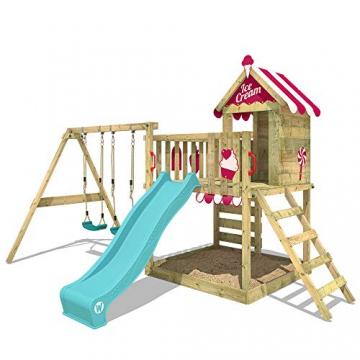 WICKEY Spielturm Baumhaus Smart Candy Stelzenhaus Klettergerüst Schaukel Rutsche - 3